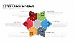 6 Step Arrow Diagram Powerpoint And Keynote Template