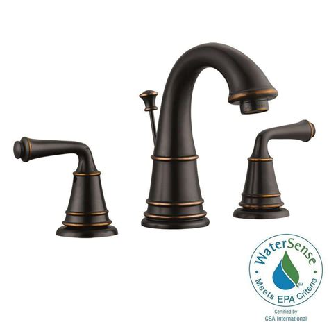 Bathroom Faucets Rubbed Bronze by Design House 8 In Widespread 2 Handle Bathroom