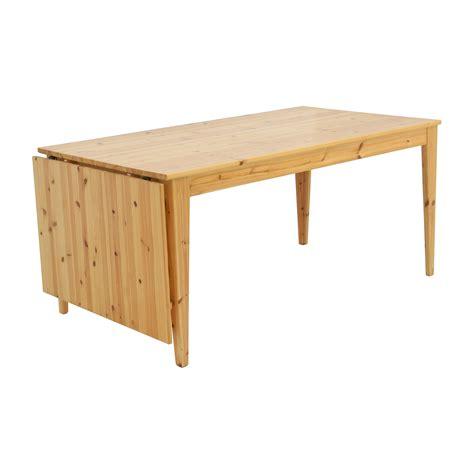 ikea drop leaf table 61 off ikea ikea norma 39 s pine wood drop leaf table tables