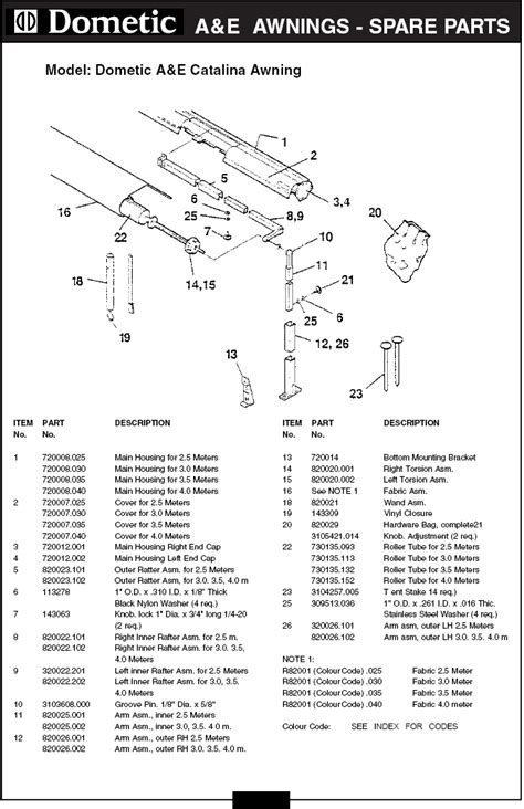 dometic 9100 power awning parts dometic rv awning parts diagram cing r v wiring