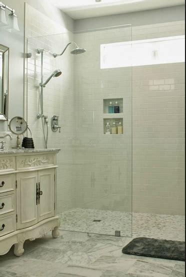 walk  shower  door small bathroom  shower