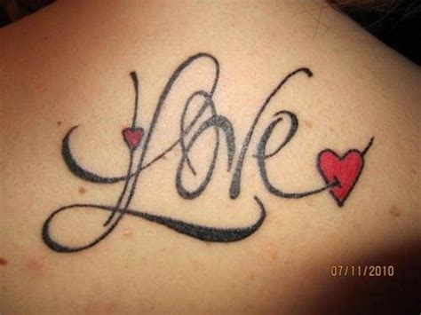 love tattoo designs specially  girls