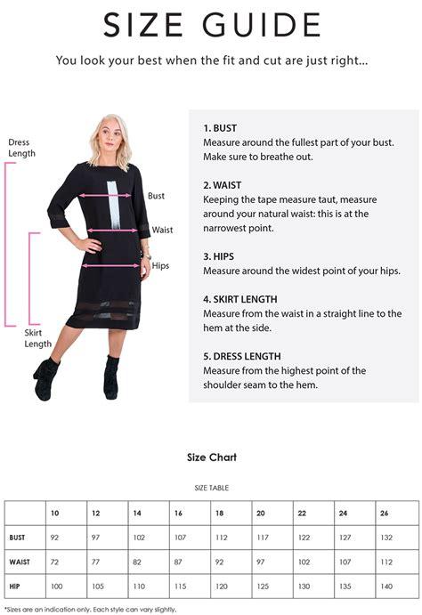 Size Guide - Magazine Designer Clothing