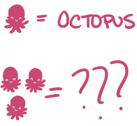 do you the correct plural form of quot octopus quot