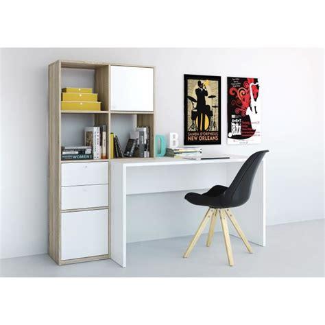 bureau biblioth ue int r function bureau bibliothèque 151 cm décor chêne sonoma