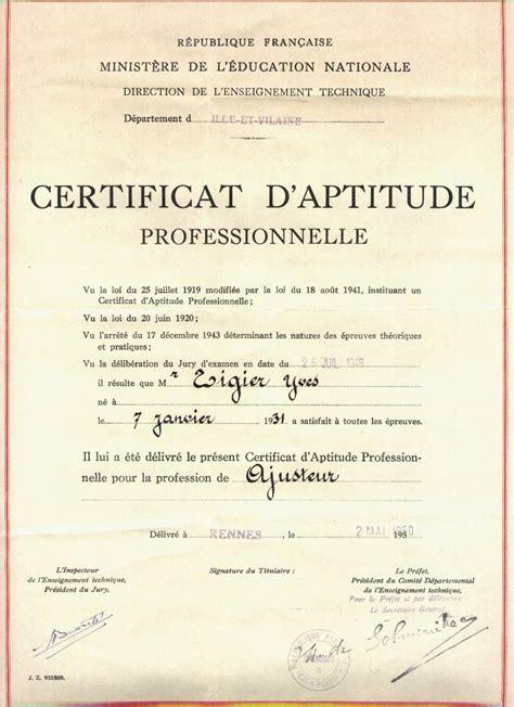certificat daptitude professionnelle wikiwand