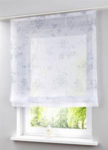 Raffrollo Weiß Transparent : raffrollo mit schlaufen weiss transparent ~ Lateststills.com Haus und Dekorationen
