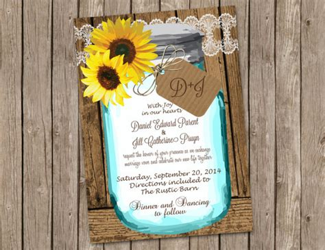 custom sunflower wedding invitations   big day