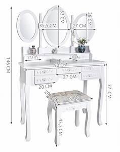 Schminktisch Mit Vielen Schubladen : schminktisch mit 3 spiegeln 7 schubladen und hocker wei kosmetiktisch 4644 ebay ~ Orissabook.com Haus und Dekorationen