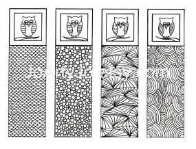 printable bookmarks owl zendoodle zentangle inspired