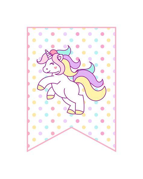 printable unicorn party decorations pack  cottage market