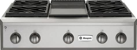 ge monogram  professional gas rangetop   burners  griddle contemporary cooktops