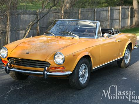 1968 Fiat Spider by 1968 Fiat 124 Spider Project Cars