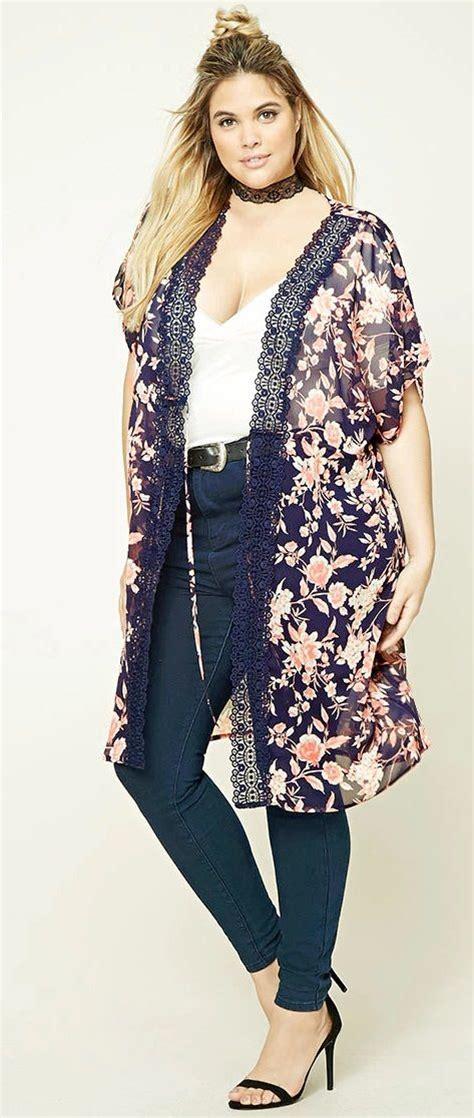 Plus Size Self-Tie Kimono - Plus Size Fashion for Women | Plus Size Fashion | Pinterest | Tu00f8j