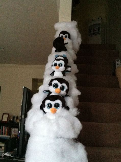 Sliding Banister by Winter Themed Banister Penguins Sliding Railing