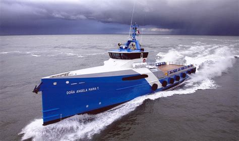 Boat Technical Definition by 50 M Fast Crew Boat 5009 For Transporting Crew