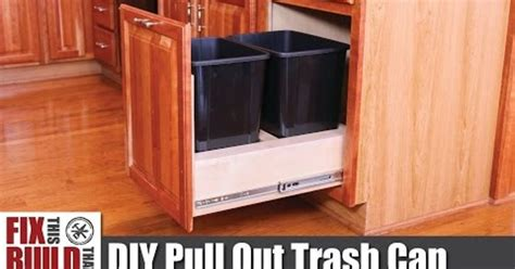 kitchen cabinet trash pull out diy pull out kitchen cabinet trash can hometalk