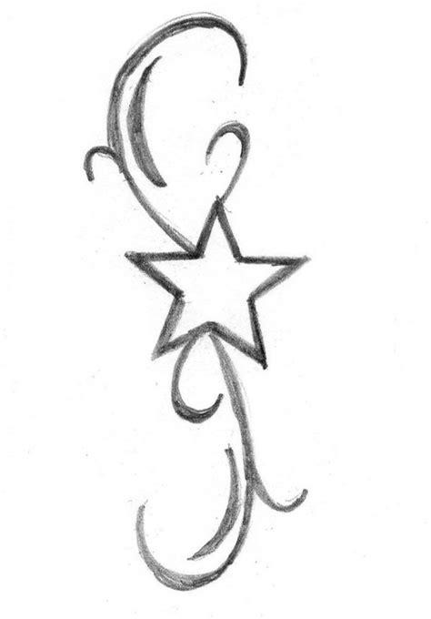 Cute Star Tattoo Design On Hip
