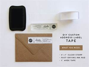 diy custom address label tape akula kreative With diy shipping label