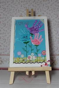 Geschenke Für Eltern Basteln : kunterbunter blumenstrau mit den handabdr cken der kinder das ist ein tolles pers nliches ~ Orissabook.com Haus und Dekorationen