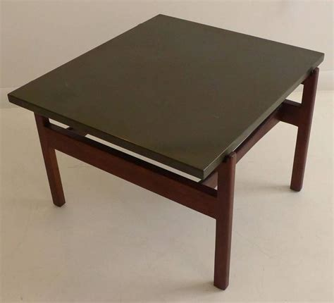 what to put on end tables besides ls jens risom side table with slate top at 1stdibs