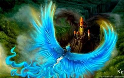 Phoenix Bird Background Desktop Wallpapers Fantasy Abstract