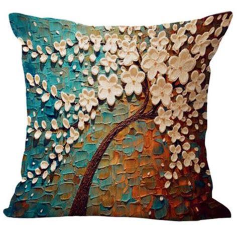 floral cotton linen pillow case waist back throw cushion cover home sofa decor ebay