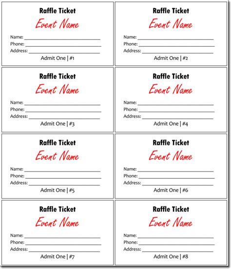raffle ticket templates  automate ticket