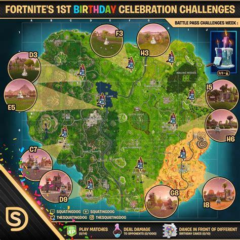 fortnites st birthday celebration challenges