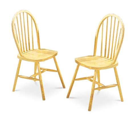 2 light honey oak spindle back wood dining chairs