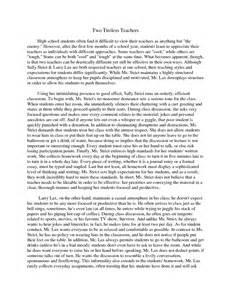 comparative and contrast essay topics