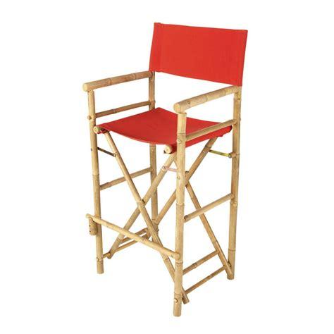 chaise en tissu chaise de bar de jardin en tissu et bambou robinson