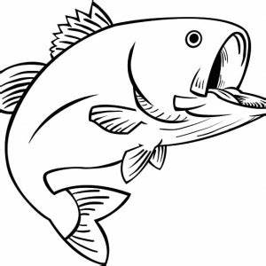 largemouth bass pictures coloring book pages pictures to With fish mouth template