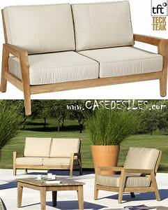 canape bas teck design de jardin 2 pl 5001 With canapé bas design