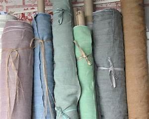 Rideaux En Lin Lavé : lin lav sabbia tissus au m tre lins l 39 atelier toile de lin ~ Teatrodelosmanantiales.com Idées de Décoration