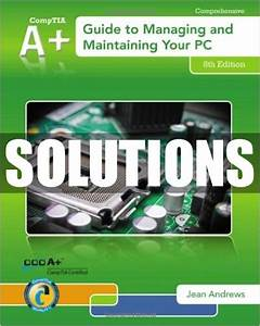 Only  22 Solutions Manual For A  Guide To Managing And