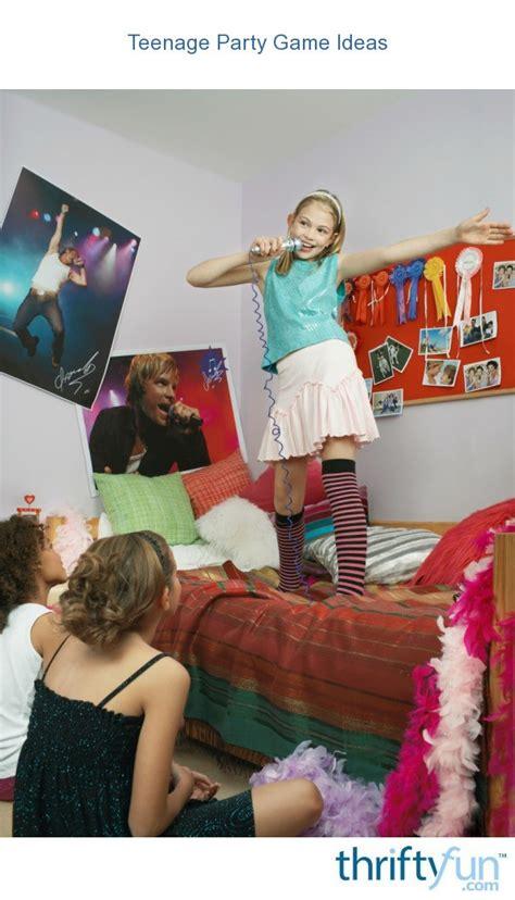 teen party game ideas thriftyfun