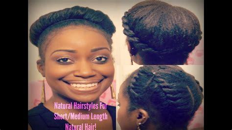 easy natural hairstyles for short medium length natural