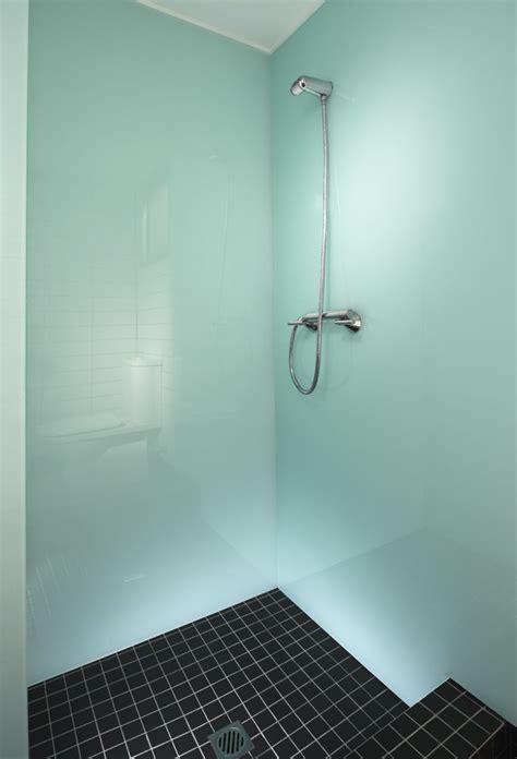 high gloss acrylic walls surrounds  backsplashes tub