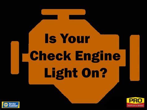 check engine light on auto repair advice car tips pro muffler benton