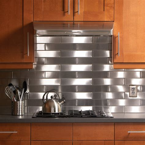 Ideas For The Kitchen Stainless Steel Backsplash  Home