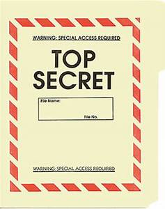 top secret file folder 5 pack With classified document folder
