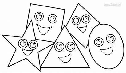 Shapes Coloring Printable Toddlers Shape Sheets Colouring