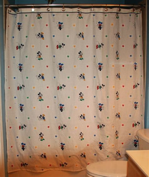 mickey mouse bathroom set kohls mickey mouse shower curtain