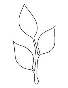 paper leaf template stem and leaf pattern use the printable outline for crafts creating stencils scrapbooking