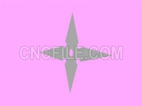 Cnc File Throwing Star File Stl And Mtl Obj Vector Free