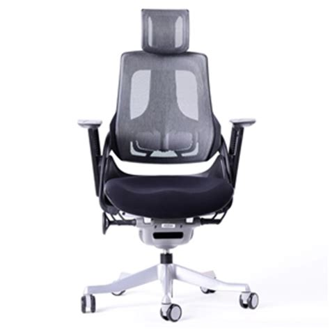 wau ergonomic office chair black auction graysonline
