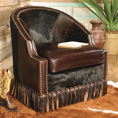 Western Cowhide Furniture by Houston Cowhide Leather Chair