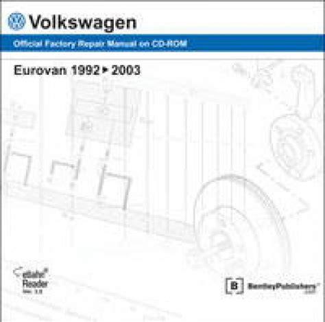free car repair manuals 1995 volkswagen eurovan free book repair manuals volkswagen eurovan 1992 2003 repair manual dvd rom