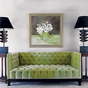 living room apple green tufted sofa with two artistic With apple green sectional sofa